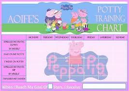Peppa Pig Potty Training Reward Chart Printable A4 Personalised Potty Training Chart Dinosaur Design Pen