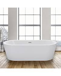 contemporary freestanding bathtub. woodbridge 67\ contemporary freestanding bathtub e