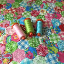 Gypsy Girl Mini Hexie Quilt | 627handworks & Gypsy Girl Mini Hexie Quilt Adamdwight.com