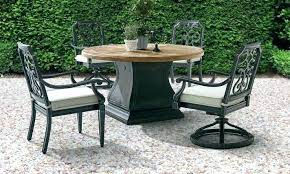 60 inch round patio table tables outdoor dining square glass cast aluminum