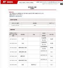 日本 郵便 トラッキング id