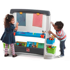 step2 jumbo art easel extra large whiteboard and chalkboard allow for multi player child play com