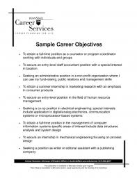 Resume Job Objective Objective Forsume Examples Medicalceptionist Statement General 94