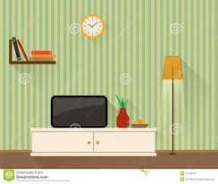Tv In Living Room Living Room With Tv Stock Vector Image 57442701