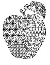 Zentangle dalmatian dog coloring page. Apple Zentangle Coloring Page By Pamela Kennedy Tpt
