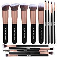 bs mall premium synthetic foundation powder concealers eye shadows silver black makeup brush sets