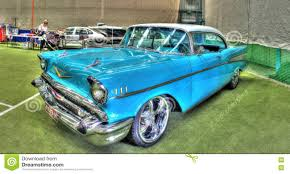 Classic American 1950s Chevy Bel Air Editorial Stock Image - Image ...