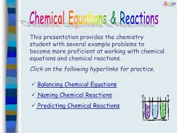 chemical equations reactions