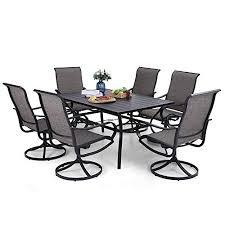 phi villa patio dining set 7 piece