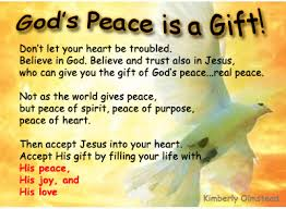 Peace Is A Gift From God St Lawrence the Martyr Catholic Church