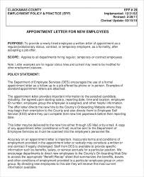 Offer Letter Appointment Letters - 18+ Free Word, PDF Documents Download | Free ...