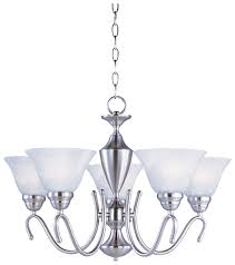 maxim 12063mrsn newport 5 lamp satin nickel upfacing chandelier with marble shades loading zoom