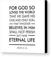 john 3 16 canvas print featuring the digital art john 3 16 spiritual wall view 001 on bible verse wall art canvas with john 3 16 spiritual wall art bible verses art canvas print