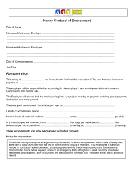 Nanny Contract Template Image Collections - Template Design Ideas