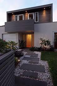 modern front yard