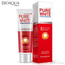 dentifrice bioaqua herbal mint fresh toothpaste whitening remove yellow stains