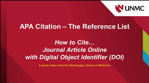 Apa How To Cite Journal Article Online With Doi