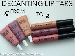 decanting occ lip tars into lipgloss s diy occ lip tar rtw you
