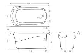 standard bathtub size pmc