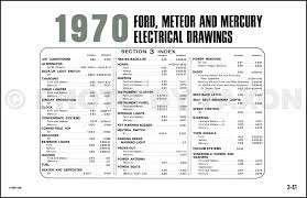 1970 ford mercury wiring diagram original ltd galaxie meteor 1970s Ford Wiring Diagram table of contents page 1970 ford f 150 wiring diagram