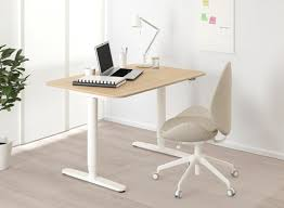 Ikea office desk Discontinued Bekant Sitstand Desk In White Stained Oak Veneer With White Frame Ikea Office Furniture Office Desks Tables Ikea