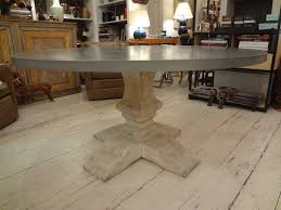 zinc round dining table tables