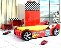 race car bed toddler bedroom set themed furniture step 2 yellow for kid