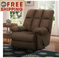 rocker recliner rocking chair dual massaging zone pad nursery large massage