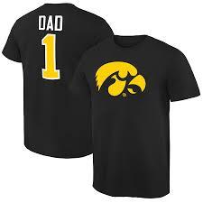 Dad Hawkeyes Men's 1 T-shirt Black Iowa Fanatics Branded Number
