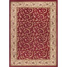 elg5400 8x10 8 x 10 large ivory gold and red area rug elegance