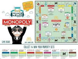 get a 2016 mcdonald s monopoly game board