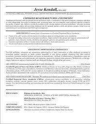 Nurse Anesthetist Resume Resume For Certified Registered Nurse Anesthetist Resume Resume 43