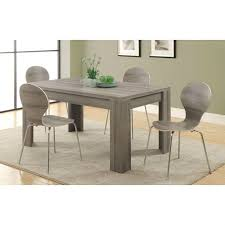 Modern 60 X 36 Inch Dark Taupe Rectangular Dining Table Hideout Candy