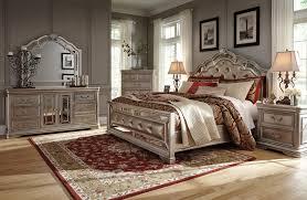 birlanny silver 4 pcs california king upholstered bedroom set