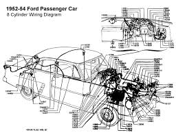 wiring diagram for 1952 54 ford 8 cyl wiring ford wiring diagram for ford cyl