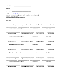 community service verification form for court sample community service form 10 examples in pdf word