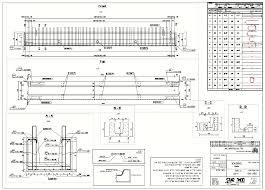 Rebar Design And Detailing Data Chart A Typical Precast Girder Shop Drawing Note The Detailed