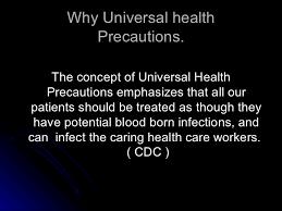 Universal Health Precautions