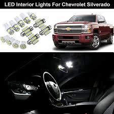 2007 Silverado Interior Lights 12pcs White Led Interior Lights Bulbs Package For Chevrolet