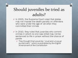 research paper for juveniles tried as adults