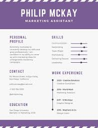 Purple And Gray Timeline Infographic Resume Templates By Canva