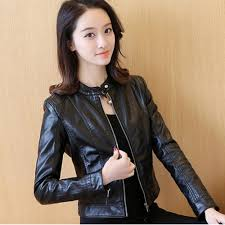 grandwish women fashion leather coat korean design casual coat s 2xl black