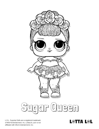 Lol Doll Coloring Pages Sugar Series 1 Surprise Queen Bee Auto
