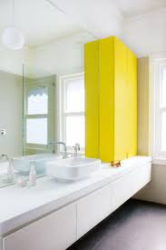 Best Images About INTERIOR Bathroom On Pinterest - Yellow and white bathroom