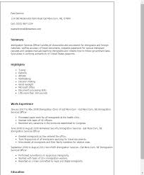 Resume Template Office Classy Professional Immigration Services Officer Templates To Showcase Your