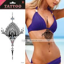 Tetovací Nálepky Ostatní Non Toxic Velká Velikost Waterproof Kovový Lesk Dámské Dospělý Flash Tattoo Dočasné Tetování