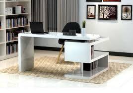 modern white office desks. Plain Desks A33 Modern White Lacquer Office Desk With Bookcase  EBay With Desks