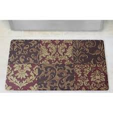 Kitchen Comfort Floor Mats Chef Gear Anti Fatigue Basket Weave Printed Memory Foam Comfort