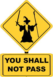 You Shall Not Pass Sign With Gandalf Vector Clipart Image