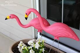 garden flamingos. Plastic-pink-flamingos Garden Box Flamingos